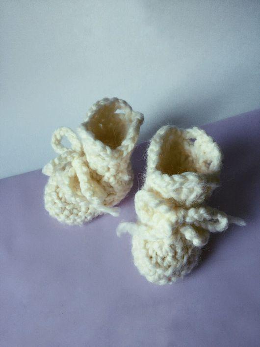 Детская обувь ручной работы. Ярмарка Мастеров - ручная работа. Купить Теплые пинетки из шерсти альпака. Handmade. Пинетки, ребенок