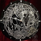 Для дома и интерьера handmade. Livemaster - original item Horse. Wall clock.. Handmade.