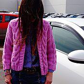 Одежда ручной работы. Ярмарка Мастеров - ручная работа Бомбер-кардиган с косами.. Handmade.