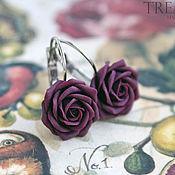 Украшения handmade. Livemaster - original item Earrings with rose color Marsala. Handmade.