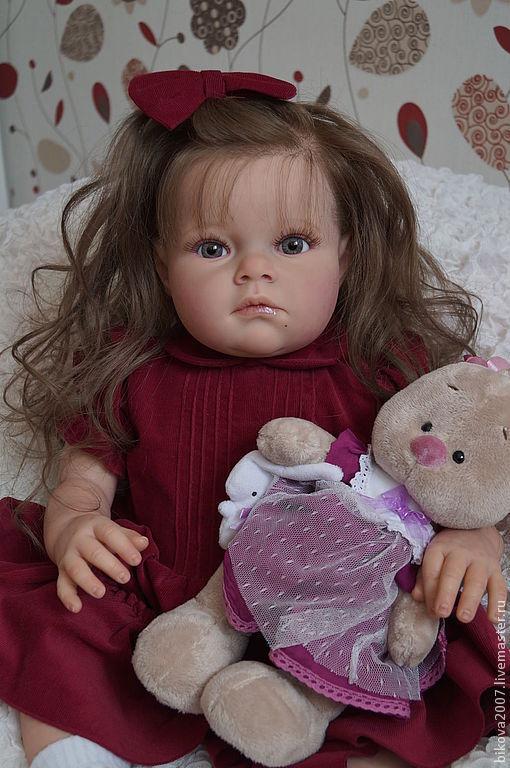 Куклы-младенцы и reborn ручной работы. Ярмарка Мастеров - ручная работа. Купить Танюша!!!. Handmade. Бордовый, генезис
