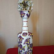 Бутылки ручной работы. Ярмарка Мастеров - ручная работа Декор свадебные бутылки.декор свадебные бакалы. Handmade.
