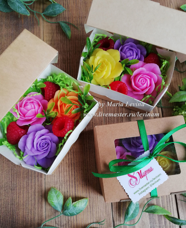 Подарочный набор мыла розы и малина мини, подарок учителю купить Москв, Композиции, Москва,  Фото №1