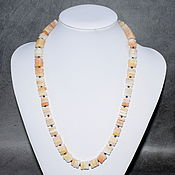 Работы для детей, handmade. Livemaster - original item Beads natural peach aventurine. Handmade.