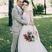 Свадебный салон ручной работы. Ярмарка Мастеров - ручная работа Свадебное платье Кружевная орхидея. Handmade.