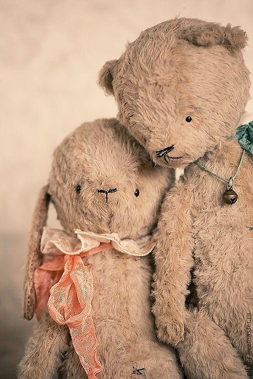 """Мишки Тедди ручной работы. Ярмарка Мастеров - ручная работа. Купить Тедди из серии """"Love is..."""". Handmade. Бежевый"""