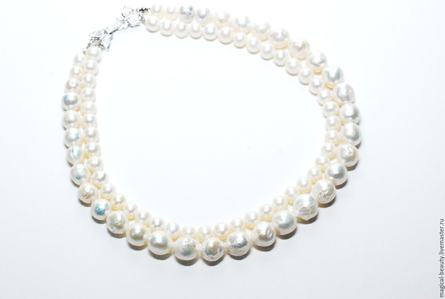 Pearl necklace - 'the snow Queen', Necklace, Moscow,  Фото №1