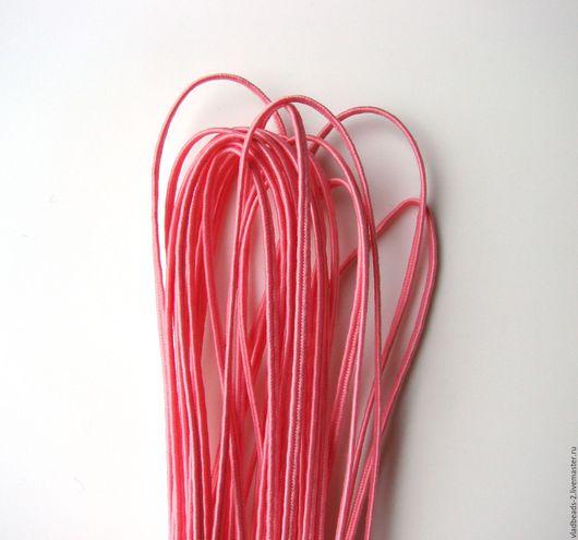 Для украшений ручной работы. Ярмарка Мастеров - ручная работа. Купить Розовый сутаж белорусский 2,5мм. Handmade. Сутаж