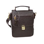 Сумки и аксессуары handmade. Livemaster - original item Men`s brown leather bag Louis Mod. C68-122. Handmade.