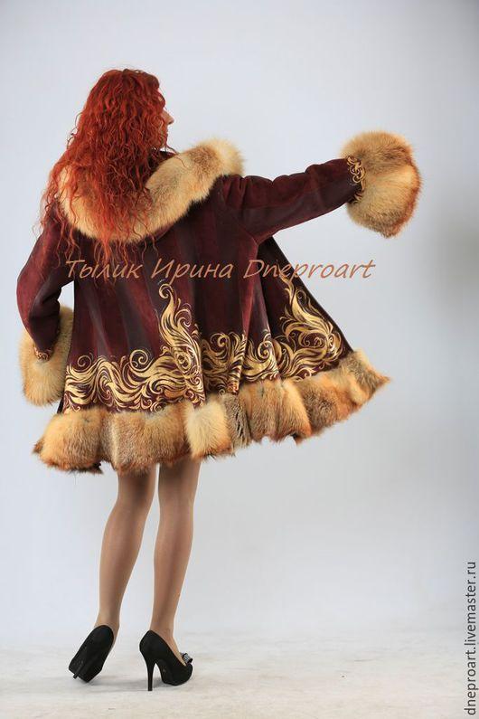 """Верхняя одежда ручной работы. Ярмарка Мастеров - ручная работа. Купить Пальто """"Мечта""""с мехом лисы. Handmade. Ярко-красный"""