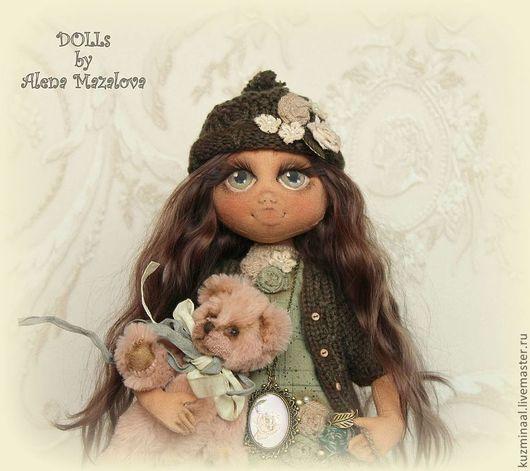 """Коллекционные куклы ручной работы. Ярмарка Мастеров - ручная работа. Купить Текстильная кукла """"RUTH..."""". Handmade. Тёмно-зелёный"""
