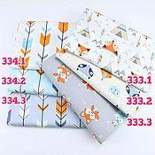 Материалы для творчества handmade. Livemaster - original item Fabric: Fabric Chinese cotton satin chanterelles arrows. Handmade.