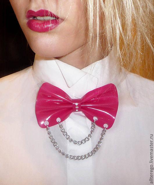 Галстуки, бабочки ручной работы. Ярмарка Мастеров - ручная работа. Купить галстук-бабочка. Handmade. Фуксия, пвх