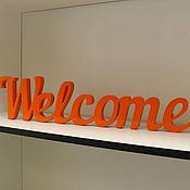 Для дома и интерьера ручной работы. Ярмарка Мастеров - ручная работа Интерьерное слово Welcome. Handmade.