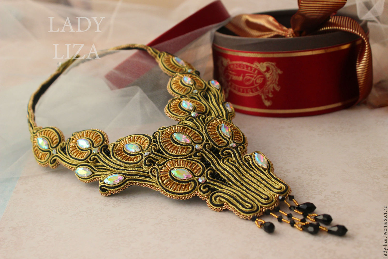 handmade purchase on soutache masters to online liza lady jewelry item needlework necklace jewellery shop fair modern
