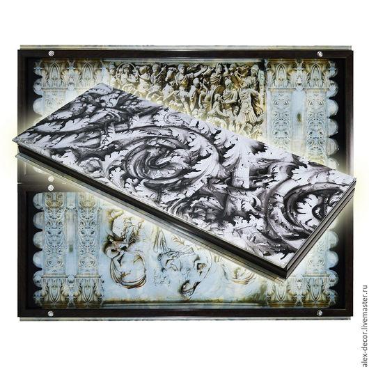Настольные игры ручной работы. Ярмарка Мастеров - ручная работа. Купить Эксклюзивные нарды из стекла  GREECE (серия S). Handmade.