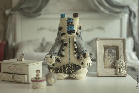 Игрушки животные, ручной работы. Ярмарка Мастеров - ручная работа. Купить Северный Мишка. Handmade. Белый, автор, подарок подруге