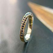 Rings handmade. Livemaster - original item Gold ring with sapphires
