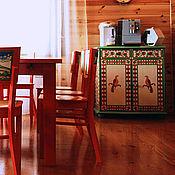 Для дома и интерьера ручной работы. Ярмарка Мастеров - ручная работа Роспись мебели. Комод с пермогорской росписью.. Handmade.