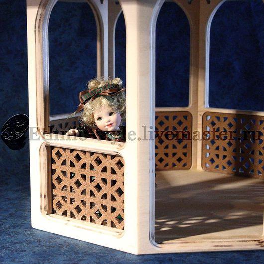 Кукольный дом ручной работы. Ярмарка Мастеров - ручная работа. Купить Беседка для кукол. Handmade. Бежевый, авторская ручная работа