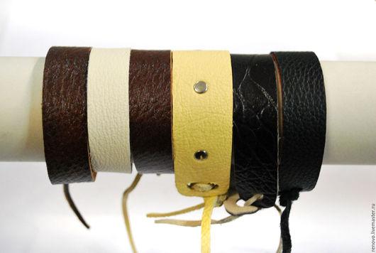 Браслеты ручной работы. Ярмарка Мастеров - ручная работа. Купить Браслеты из натуральной кожи двухсторонние. Handmade. Комбинированный, кожаный браслет