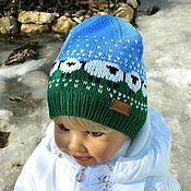 """Работы для детей, ручной работы. Ярмарка Мастеров - ручная работа """"Baablehat""""- шапочка с овечками. Handmade."""