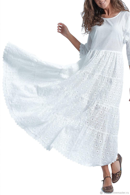 Платье Из Хлопкового Кружева Купить В Москве