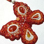 Украшения ручной работы. Ярмарка Мастеров - ручная работа колье кулон бабочка. Handmade.