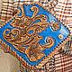 Order Leather wallet 'Favorite flower' - blue. schwanzchen. Livemaster. . Wallets Фото №3