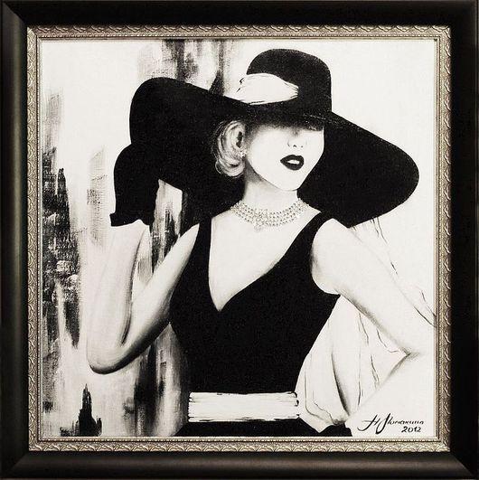 Люди, ручной работы. Ярмарка Мастеров - ручная работа. Купить Femme de 1950. Handmade. Картина, подарок женщине, женщина