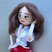 Портретная кукла ручной работы. Ярмарка Мастеров - ручная работа Авторская вязаная кукла Даша. Handmade.