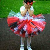 Минни Маус юбка-пачка, повязка, ушки, футболка с декором