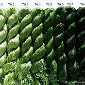 Нитки ручной работы. Ярмарка Мастеров - ручная работа Нитки для вышивания, шёлк натуральный.. Handmade.