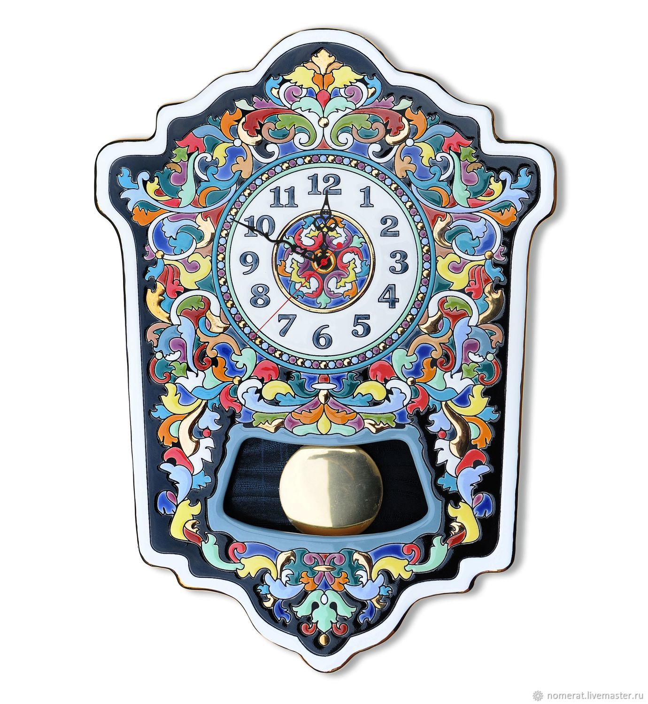Clocks, decorative,ceramic, with pendulum, Watch, Moscow,  Фото №1