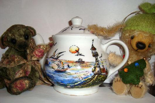 """Чайники, кофейники ручной работы. Ярмарка Мастеров - ручная работа. Купить Чайник """"Морской"""". Handmade. Море, чайник"""