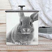 """Банки ручной работы. Ярмарка Мастеров - ручная работа Короб для сыпучих на кухню """"Кролики"""". Handmade."""