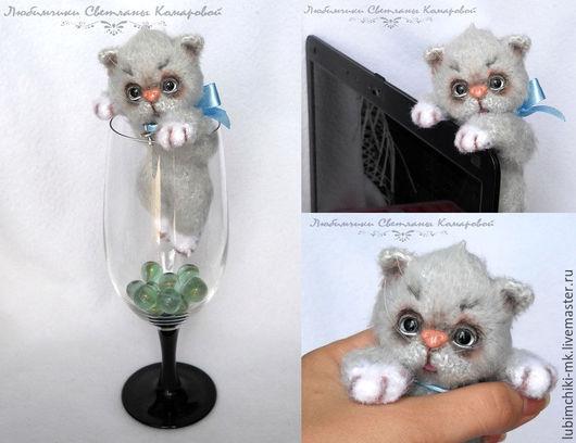 Вязание ручной работы. Ярмарка Мастеров - ручная работа. Купить Котёнок Пиксель. Handmade. Комбинированный, котенок