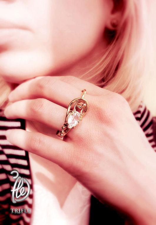 """Кольца ручной работы. Ярмарка Мастеров - ручная работа. Купить кольцо на два пальца """" Baroque music"""". Handmade. Желтый"""