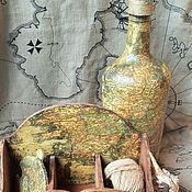 """Для дома и интерьера ручной работы. Ярмарка Мастеров - ручная работа Набор """"Старинная карта"""". Handmade."""