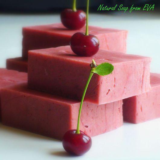 вишня,мыло,мыло с нуля,натуральное мыло,взбитое мыло,розовое мыло,мыло органик,