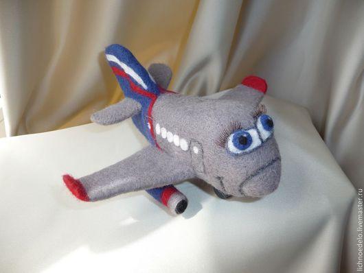 """Техника ручной работы. Ярмарка Мастеров - ручная работа. Купить """"Летайте самолётами Аэрофлота !"""" -валяная игрушка. Handmade. Серый"""