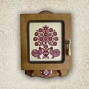 Для дома и интерьера ручной работы. Ярмарка Мастеров - ручная работа Ключница-оберег  Дерево жизни. Handmade.