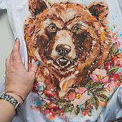 Одежда handmade. Livemaster - original item T-Shirt Bear. Handmade.