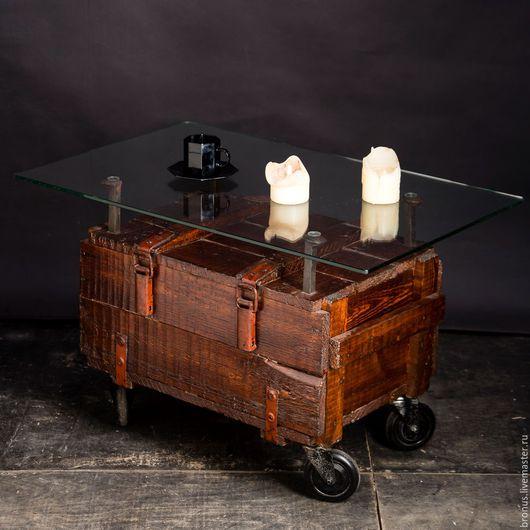 Мебель ручной работы. Ярмарка Мастеров - ручная работа. Купить Кофейный столик. Handmade. Коричневый, колеса, loft, классика