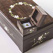 Свадебный салон ручной работы. Ярмарка Мастеров - ручная работа Короб для подарочных конвертов и пожеланий. Handmade.