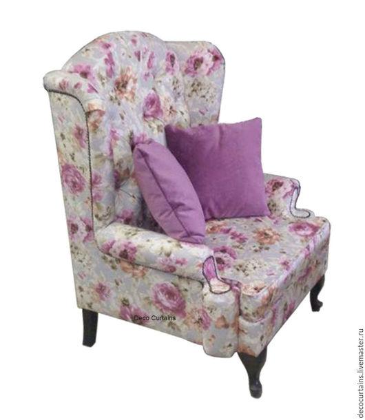 Мебель ручной работы. Ярмарка Мастеров - ручная работа. Купить Огромное Кресло Английское в стиле прованс. Handmade. Комбинированный, поролон