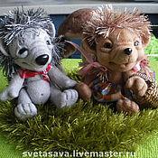 Куклы и игрушки ручной работы. Ярмарка Мастеров - ручная работа Ежуня и Ежуля. Handmade.