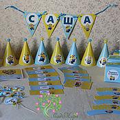 Подарки к праздникам ручной работы. Ярмарка Мастеров - ручная работа набор для оформления дня рождения в стиле Миньоны. Handmade.