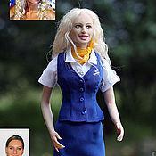 """Портретная кукла ручной работы. Ярмарка Мастеров - ручная работа Пример портретной куклы """"Стюардесса"""". Handmade."""