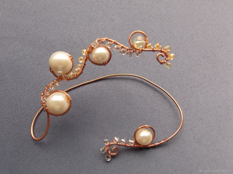 Cuff: Pearl, Cuff Earrings, Moscow,  Фото №1